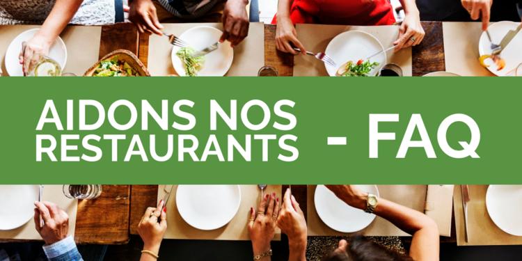 FAQ Aidons Nos Restaurants