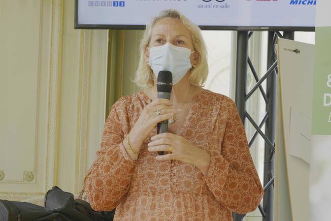 Nadia Saadi, adjointe au maire de Bordeaux en charge de l'accompagnement des mutations économiques